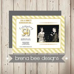 Personalized   50th Wedding Anniversary by brenabeedesigns on Etsy