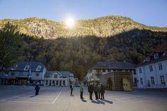 Voor het eerst winters zonlicht in Noors dorpje - De Standaard