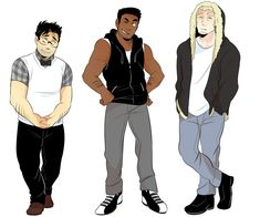 """moosoppart: """" I got an ask for a fullbody ref of my human version of the We Bare Bears So here ya go, I did small modifications to their clothes but not rly """" Anime Vs Cartoon, Cartoon Shows, Cartoon Art, Character Inspiration, Character Art, Character Design, We Bare Bears Human, Cartoon Characters As Humans, Desenhos Cartoon Network"""