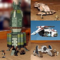 Tektonten Papercraft - Free Papercraft, Paper Models and Paper Toys: Star Wars Miniature Gaming Paper Models