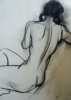 Life Drawing, but not mine (took figure drawing classes in Santa Barbara, Ca. Donna Bouma)