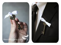 Key to my heart boutonniere