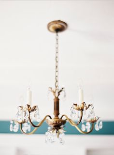 simple gold chandelier / jen huang studio