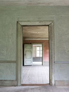Beautiful empty old rooms in Salaholm, Sweden.