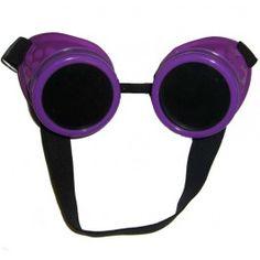 Lunettes Goggles Cyber Gothique Goth Mauve