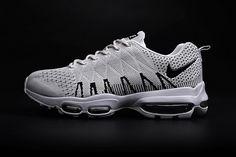 new arrival 584c4 24dc4 Nike Air Max 95 Flyknit Summit White Black Late Sneaker Air Max 95 Mens, Air