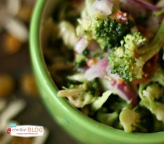 Broccoli Salad Recipe - Todays Creative Blog - if I sub something for the 1 1/2 c sugar, and mayo, it'll be more healthy.......