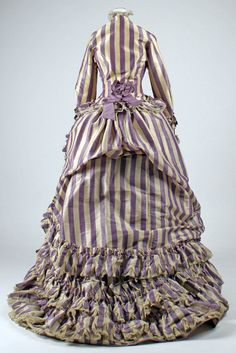 Visiting Dress: 1867, French, silk, wool, cotton.