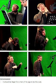 Martin Freeman being ridiculously adorable. He's greying and I'm into him. What's wrong with me ._.