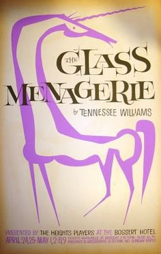 """David Klein theater poster for """"The Glass Menagerie."""""""