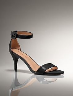 b23899c4c9b Talbots - Lakia Patent Leather Mid-Heel Anklestrap Sandal