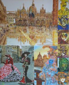 "Saatchi Art Artist bachmors artist; Painting, ""Venetian masks (Masks polyptych, scene3)"" #art"