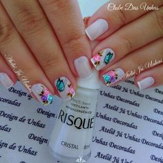 As melhores decorações de Unhas artísticas para 2017 en 2020 Nail Art Noel, Magic Nails, Nail Studio, Gel Nail Designs, Nail Shop, Flower Nails, Stylish Nails, Beautiful Nail Art, Cool Nail Art