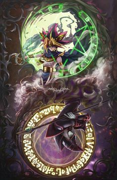 Atem and Dark magician