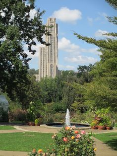 Cathedral of Learning, University of Pittsburgh, from Phipps Conservatory.