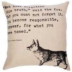 Fox Linen Pillow