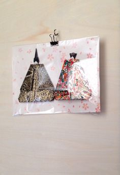 Etsy の Origami Hina dolls YM by SelectShopNORA Take a look, please
