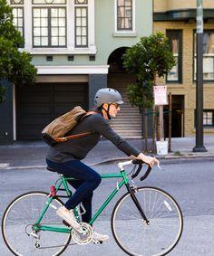 Designing durable fashion for stylish bike commuters.