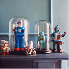 """Robots in Cloche --- Note to self: """"Start a robot collection."""" Why not?"""