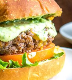 Chipotles in adobo give these chipotle burgers a smoky, spicy flavor. And when drenched in a Creamy Avocado Sauce you just made the best burger in town!