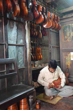 The Violin Maker, Calcutta.