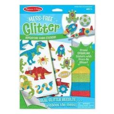 Melissa & Doug Mess-Free Glitter Adventure Foam Stickers #GlitterCrafts