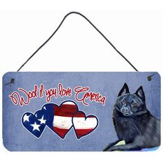 Caroline's Treasures Woof if you love America Schipperke by Lyn Cook Painting Print Plaque