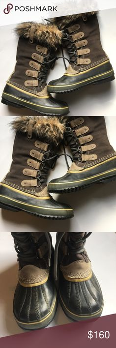 Sorel Waterproof Winter Boots Joan of Arc Style Sorel Waterproof Winter Boots Joan of Arc Style. These boots are in excellent condition! Suede and rubber and a removable lining. Super warm!! Size 9 Loc: 20 Price is FIRM unless bundled. 😊 Sorel Shoes Winter & Rain Boots