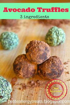 Petite Allergy Treats: Avocado Truffles-only 3 ingredients!