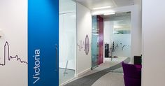 CityWest Homes office branding wall and window graphics - printed designs for the office