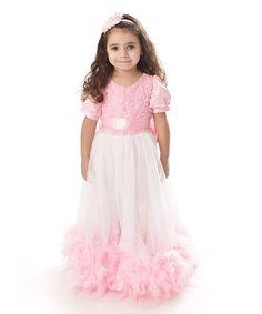 Loving this Light Pink Rosette & Feather Dress - Infant, Toddler & Girls on Baby Girl Princess, Little Princess, Princess Outfits, Girl Outfits, Feather Dress, Glam Girl, Little Girl Fashion, Infant Toddler, Toddler Girls