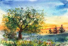 Beautiful Watercolor Landscape Paintings by Anna Armona