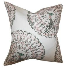 The Pillow Collection Ieesha Animal Print Bedding Sham Size: King, Color: Pink/Green