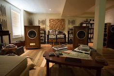 The awesome sounding TANNOY Canterbury SE speakers driven by the fantastic TENOR AUDIO tube electronics at Audio by Mark Jones.
