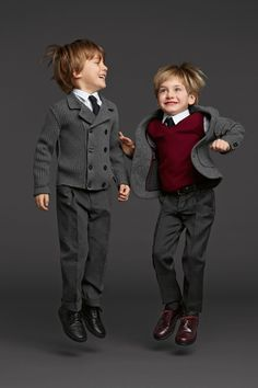 Dolce & Gabbana Kids Fall Winter 2013 | I don't like kids in formal outfits, but if you have to wear them, do it in style :)