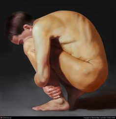 crouching figure | crouching man painter march 2008 full figure in oils in painter i ...