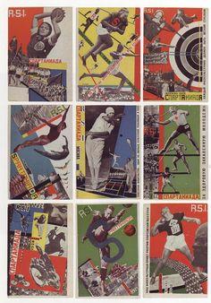 Gustav Klutsis, Postcards for the All Union Spartakiada Sporting Event, 1928