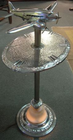 Art Deco lighted smoking stand.
