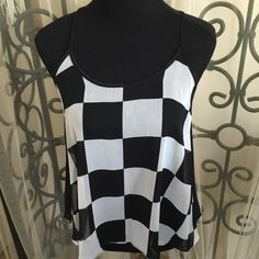 NEW ITEM.Super super cute black and white top. Gotta luv this super cute top. Size is polyester.sheer front and back not lined.new item never worn. Philosohy of Paek Tops Black And White Tops, Cute Tops, Fashion Tips, Fashion Design, Fashion Trends, Super Cute, Usa, Tank Tops, Womens Fashion