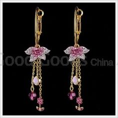 Zircon(Czech Preciosa) Rose Department Crystal Earrings For Show , For Party