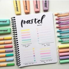 15 Gorgeous Swatch Spreads for your Bullet Journal