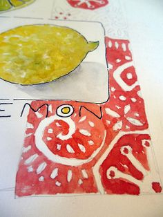 tiny tutorial ~ sketch and watercolor a lemon by Jane LaFazio