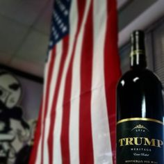How about a gift for the #donaldtrump supporter in your life. #trumpwinery is located in the foothills of the #blueridgemountains and this #meritagewine is a blend of #merlot #cabernetfranc #cabernetsauvigon #malbec and #petitverdot to create flavors of black cherry currant t cocoa and spice. #wine #wineporn #redwine #redvino #vinoporn #vino #makewinegreatagain #trumpdoeswines