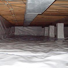 CleanSpace crawl space lining is an exclusive system that Weatherization Plus can install for you!