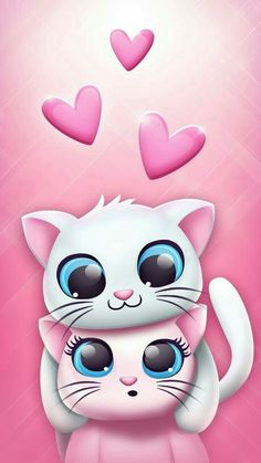 New Wallpaper Backgrounds Computer Funny 56 Ideas Kitten Wallpaper, Kawaii Wallpaper, Animal Wallpaper, Disney Wallpaper, Wallpaper Backgrounds, Wallpaper Gatos, Cute Cartoon Wallpapers, Pretty Wallpapers, Wallpapers Android