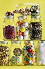 Collections Jars can contain objects, photos, prints.......