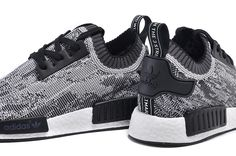 Adidas NMD R1 Men Runner Primeknit Glitch Camo Black/White
