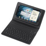 Wireless Bluetooth Keyboard + Leather Case Stand for Samsung Galaxy Tab 7 - Wireless Bluetooth Keyboard + Leather Case Stand for Samsung Galaxy Tab 7    2-in-1: Wireless Bluetooth Keyboard + Folding PU Leather Protective Case.Built-In wireless Blueto
