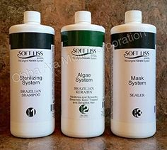 Keratin Brazilian Treatment kit 32oz Soft Liss Algae System (Algas Marinas) Hair Treatment Formaldehyde Free *** This is an Amazon Affiliate link. Find out more about the great product at the image link.