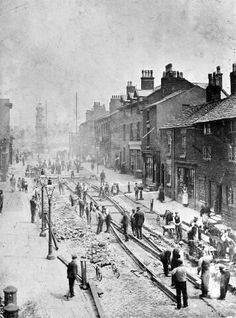 Wavertree High street 1900 Liverpool Town, Liverpool History, Liverpool England, Old Pictures, Old Photos, Black And White Building, 19th Century England, Southport, Historical Pictures